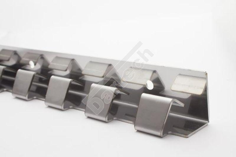 Hakenreihe für Aufhängung von PVC Streifenvorhang
