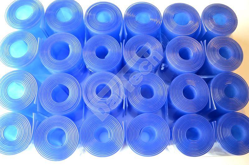 Blautönige PVC Streifen
