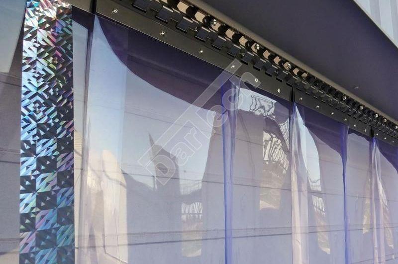 Aufhängung für PVC Streifenvorhang