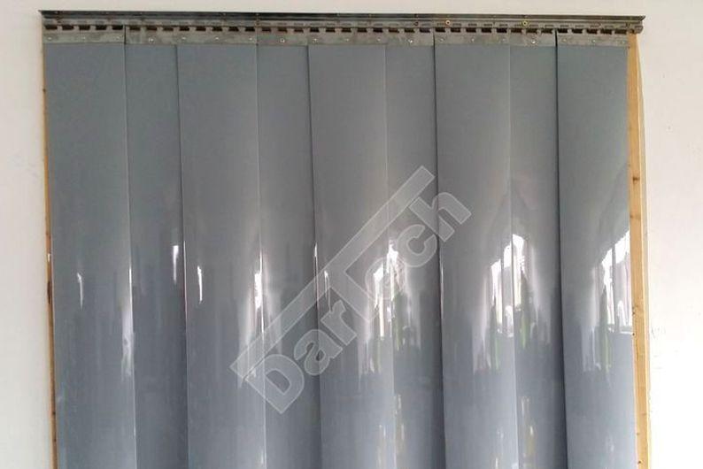 PVC Thermovorhang, grau