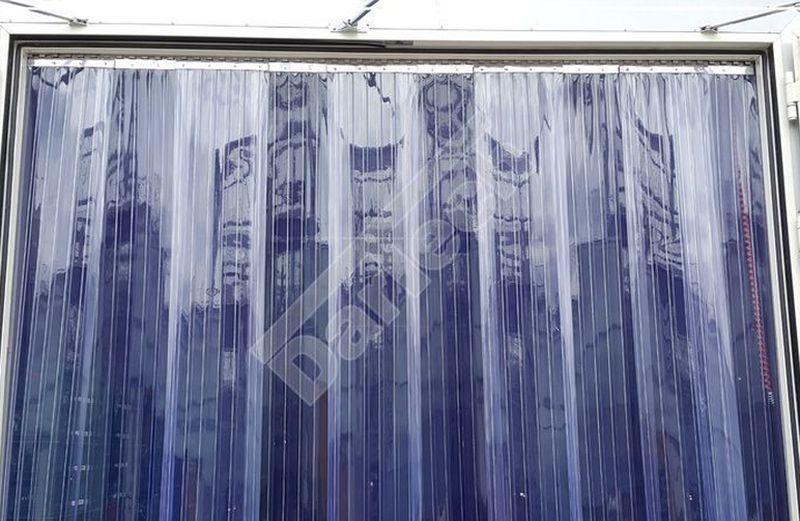 Thermovorhang aus gerippten PVC Streifen